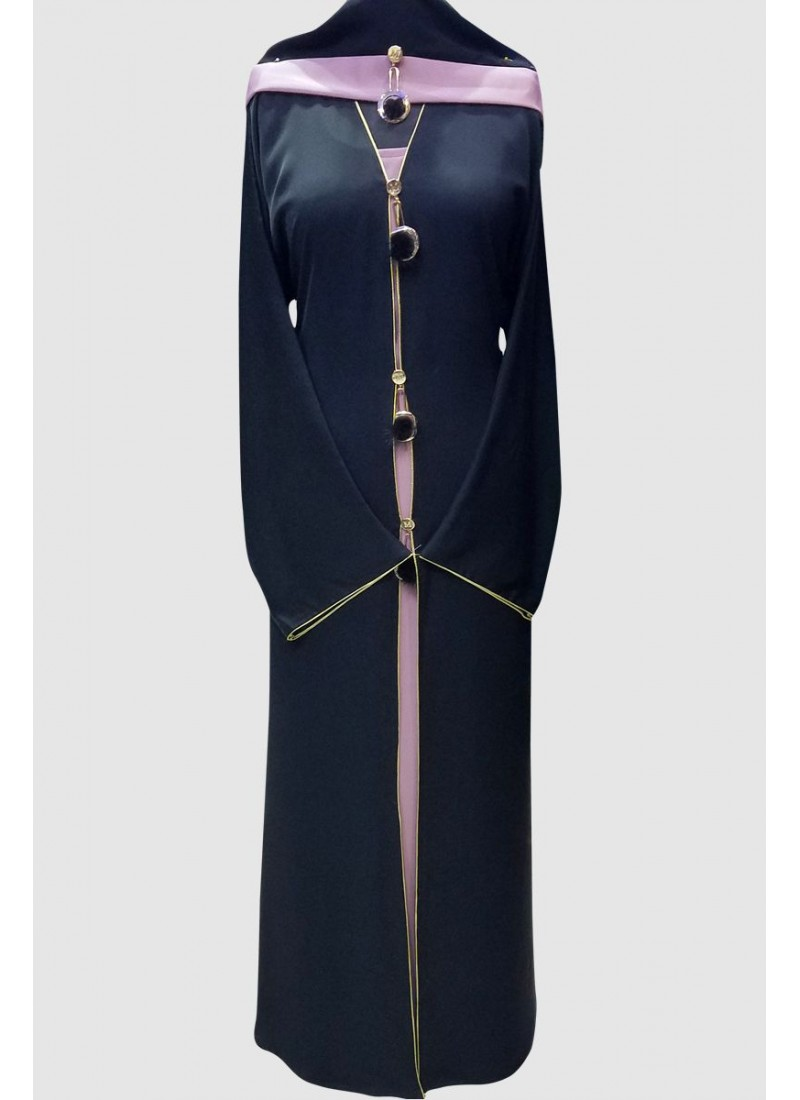 Gulf Stylish Buckle Abaya