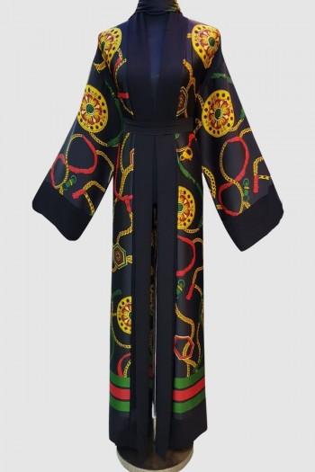 Anoosh Stunning Print Abaya
