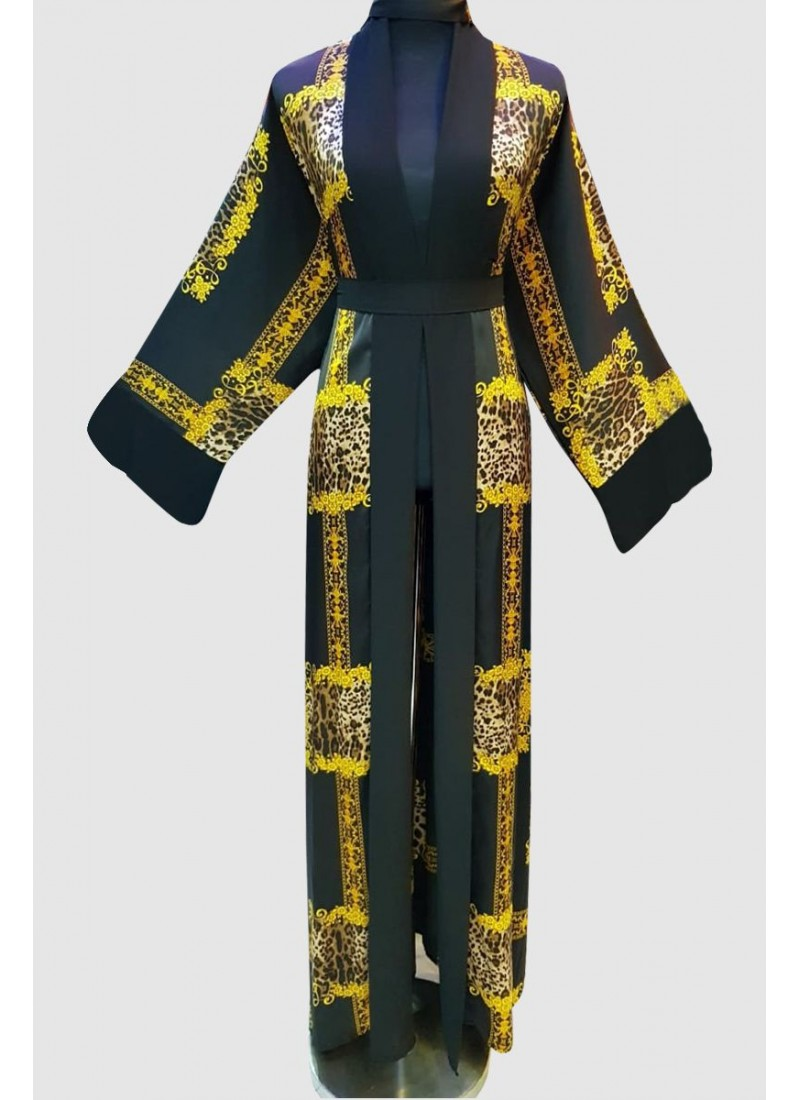 Amma'l Print Fancy Abaya