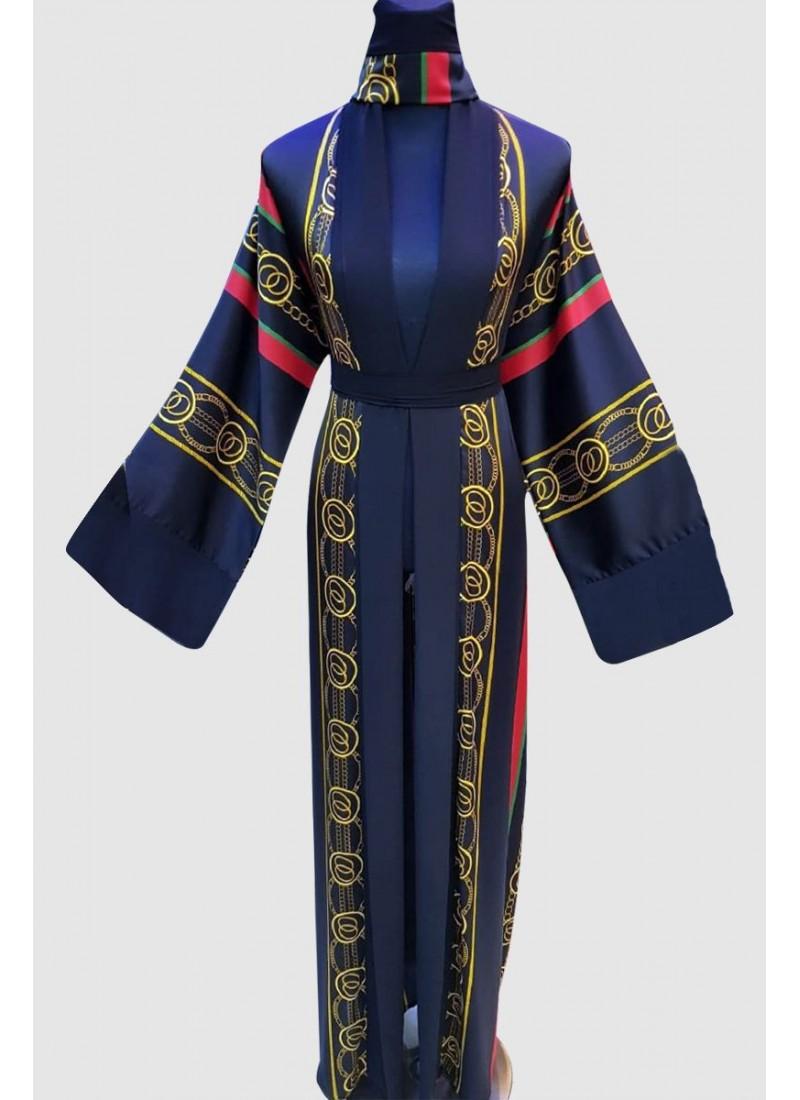 Aarsh Kimono Print Abaya