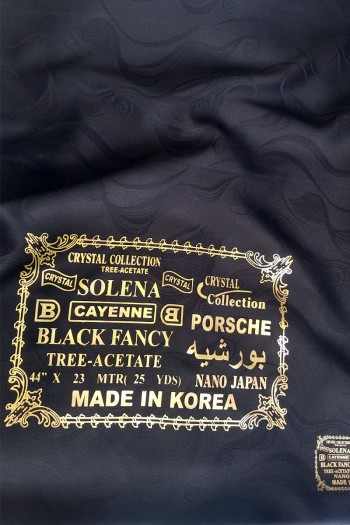 Black Fancy Fabric