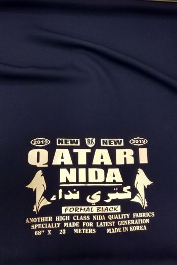 Black Qatari Nida Fabric
