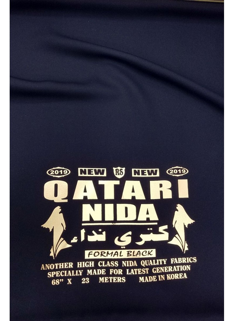Black Qatari Nida Fabric
