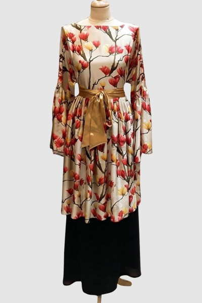 Fancy Printed Abaya
