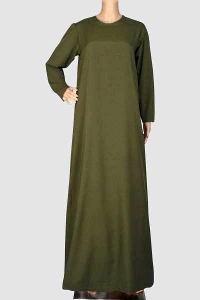 Front Close Plain Abaya