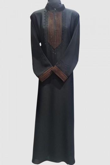 Embroidery Modest Lace Abaya