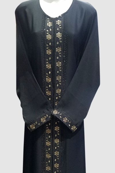 Amber Embroidery Lace Abaya
