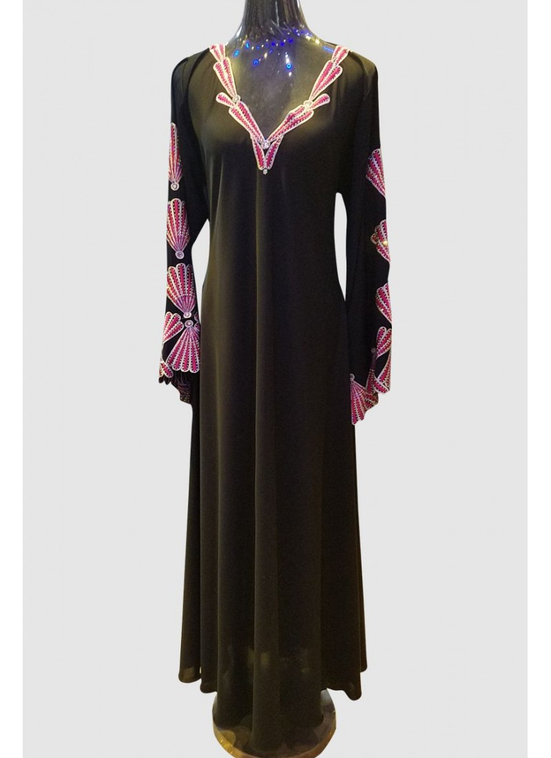 Floral Embroidery Abaya