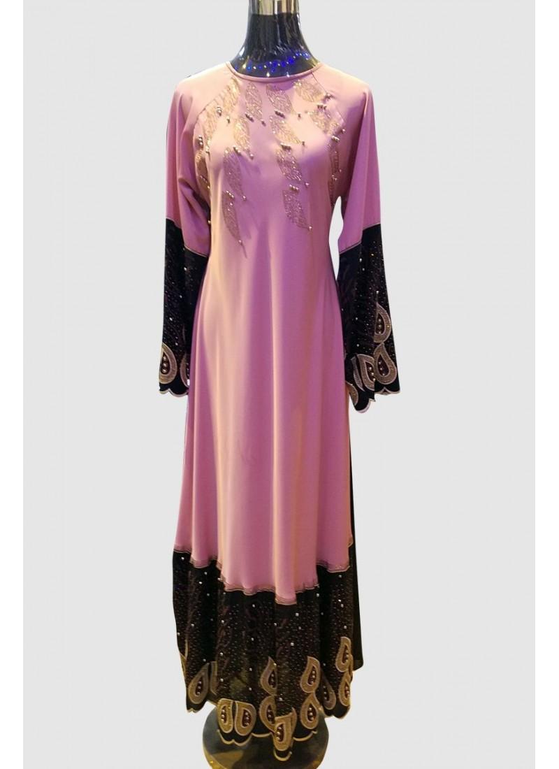 Embroidery Lace Abaya