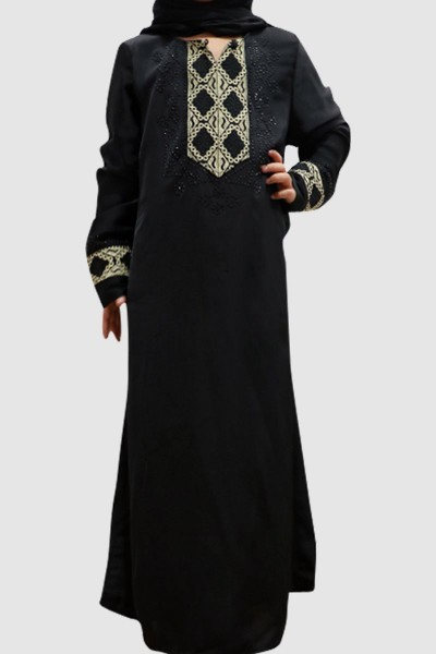 Embroidery Lace Kid's Abaya